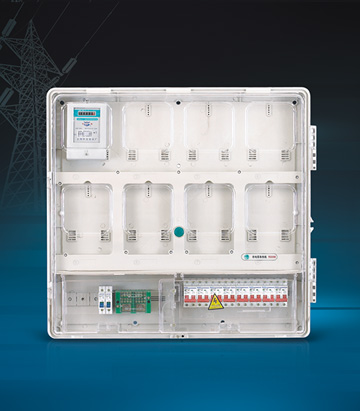 Single Phase Eight Meters  Energy Meter Box (Up and down structure )